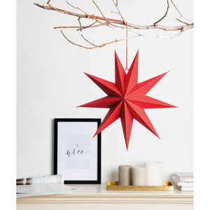 Paper Star Decoration - Red, Pink or White