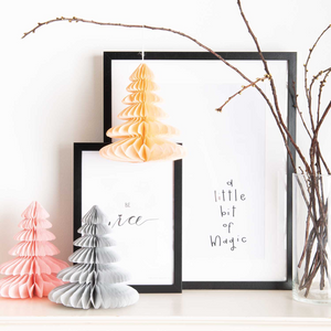 Paper Honeycomb Christmas Trees