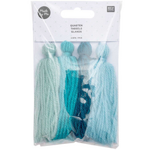 Load image into Gallery viewer, Wool Tassels - Aqua