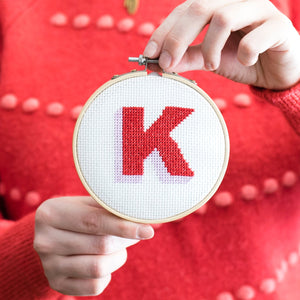 Cross Stitch Drop Shadow Alphabet Kit