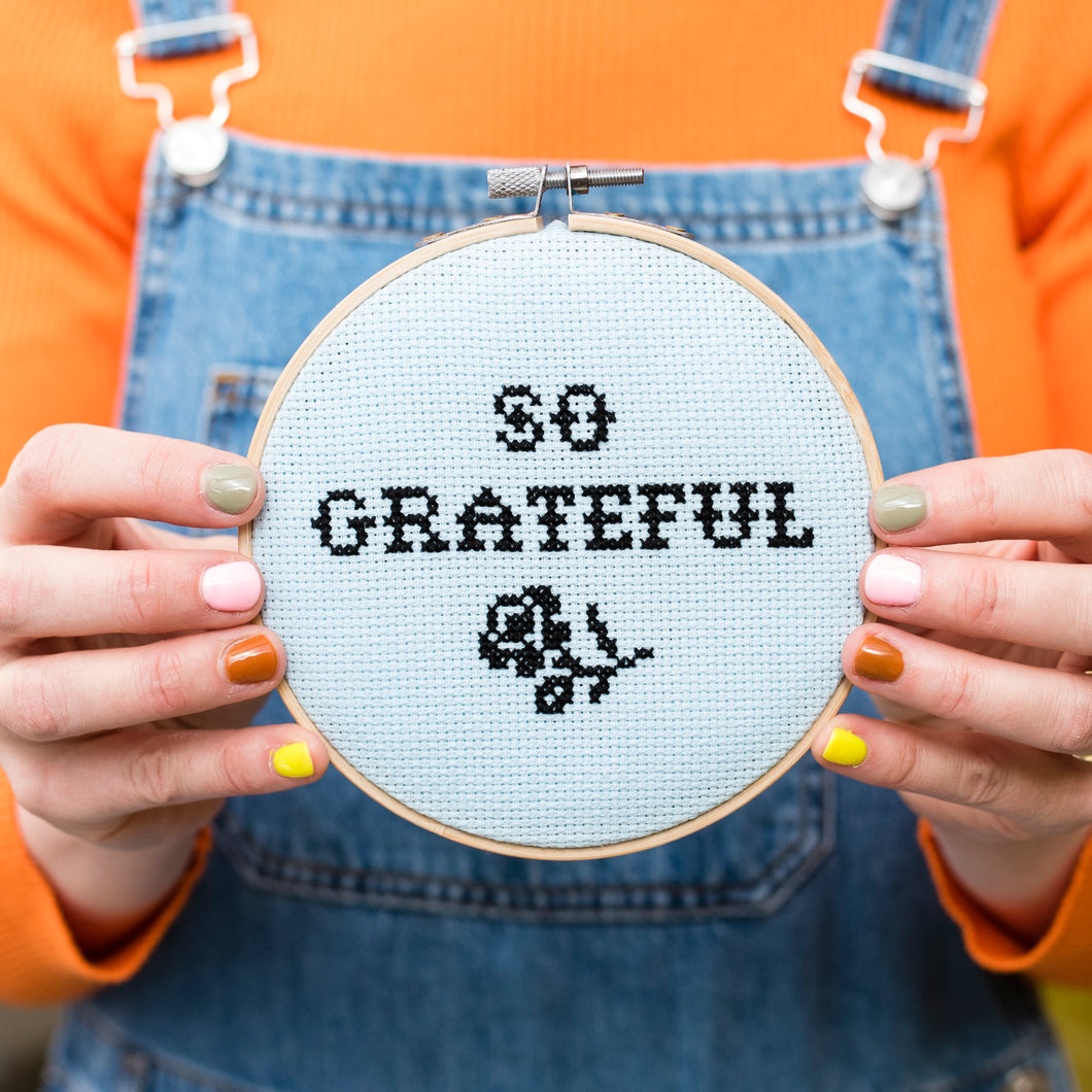 So Grateful Cross Stitch Kit