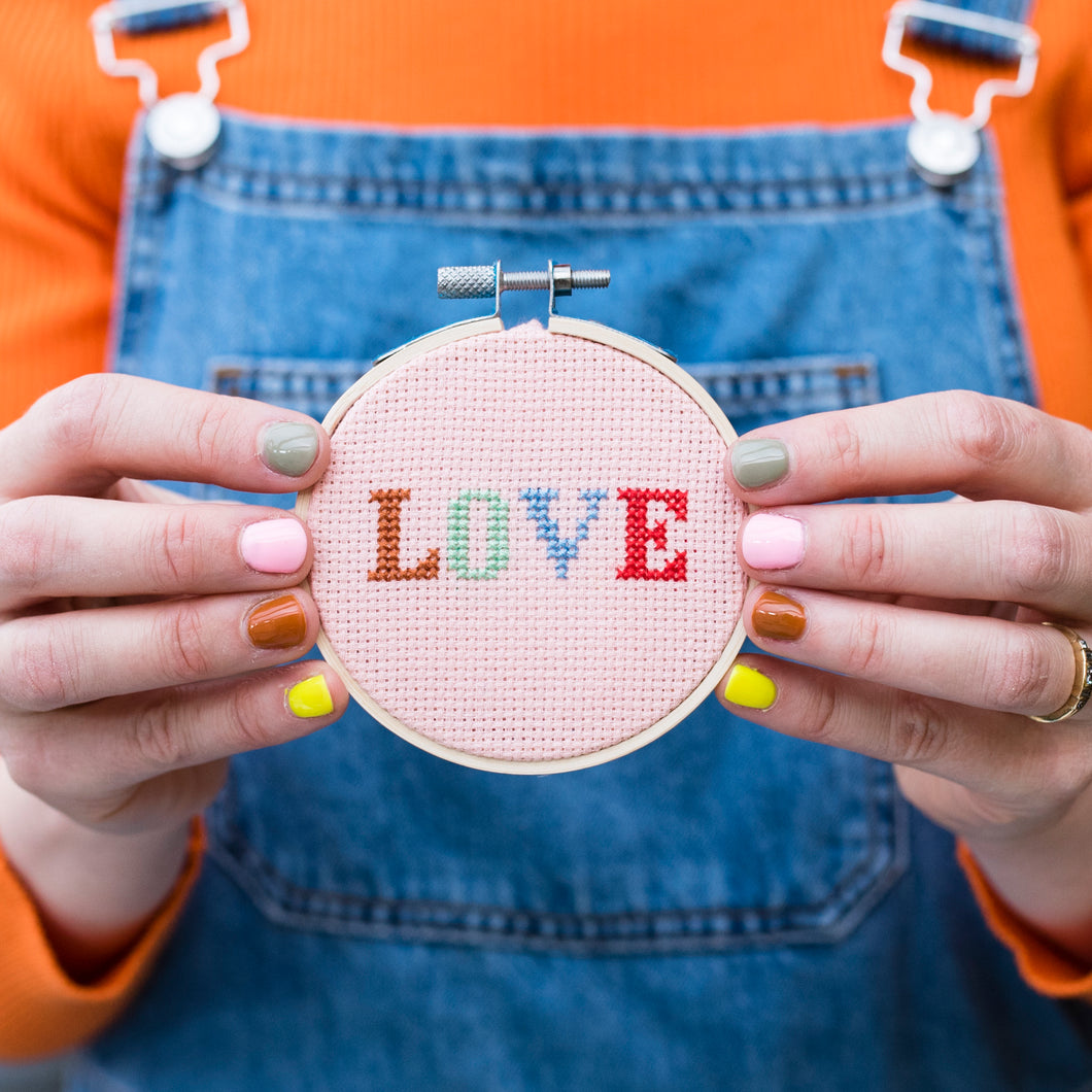 LOVE Cross stitch Embroidery Kit