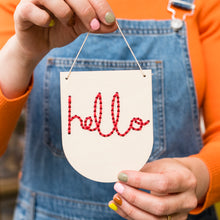 Load image into Gallery viewer, Natural Wood Hello Mini Embroidery Board Kit