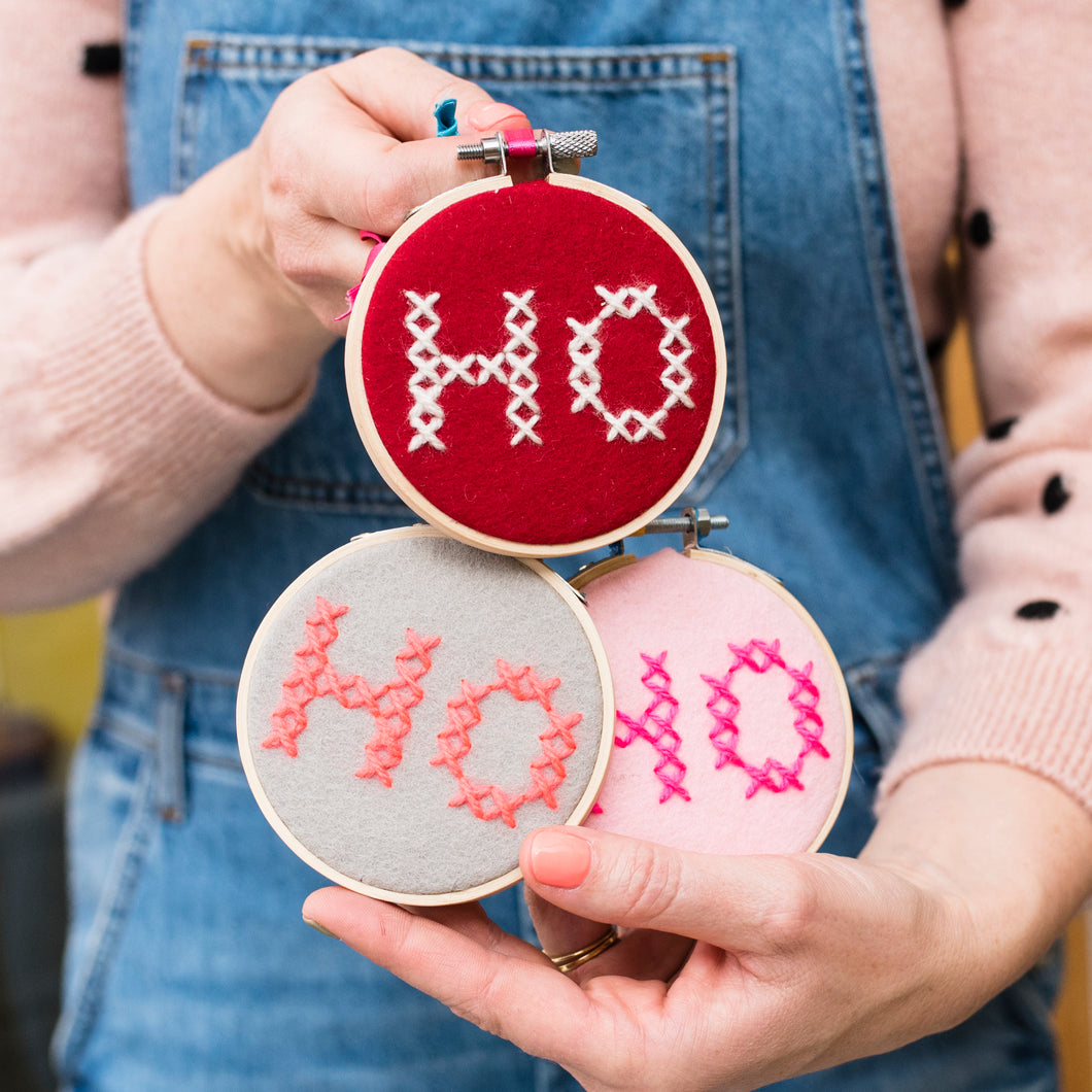 Ho Ho Ho Hoop Embroidery Kit