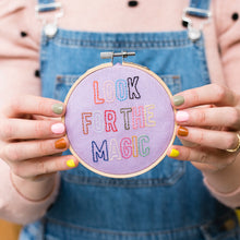 Load image into Gallery viewer, Look For The Magic Mini Embroidery Hoop Kit