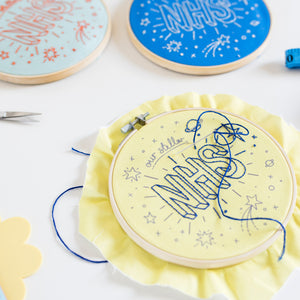 Our Stellar NHS Embroidery Hoop Kit