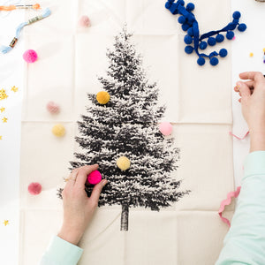 Large Christmas Tree Wall Hanging