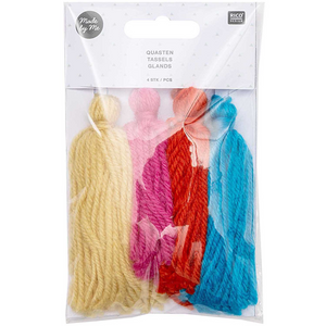 Wool Tassels - Rainbow