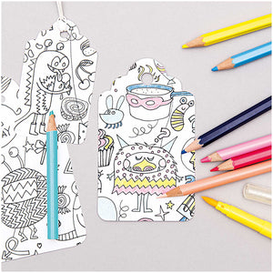 Gift Tags - Colouring Activity