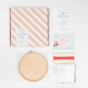 We're The Lucky Ones Embroidery Hoop Kit