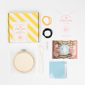 White Bird Embroidery Hoop Kit