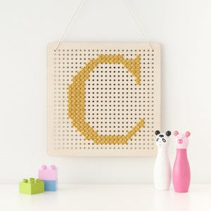 Cross Stitch Pegboard Wall Art Board DIY Craft Kit