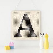 Load image into Gallery viewer, Cross Stitch Pegboard Wall Art Board DIY Craft Kit