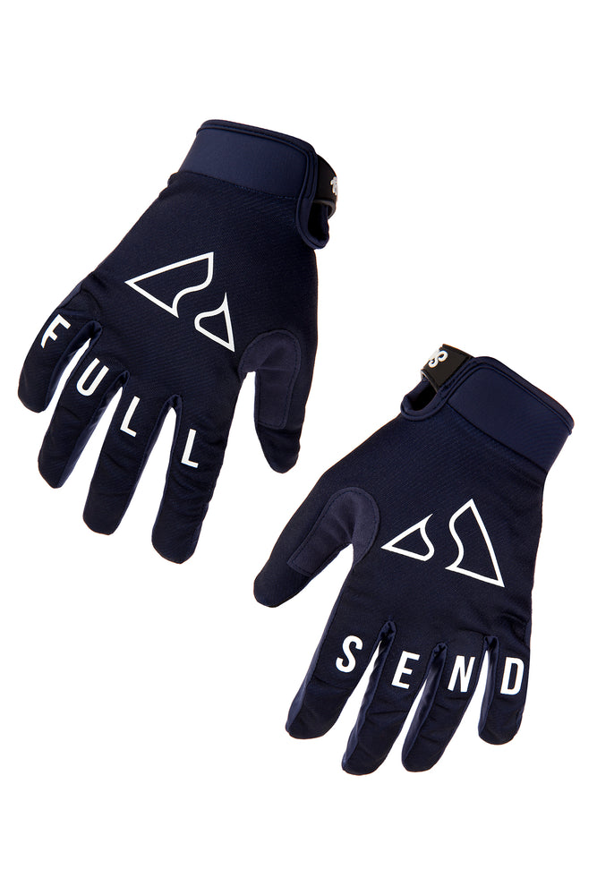 Send It Adults MTB Glove | Full Send Deep Blue