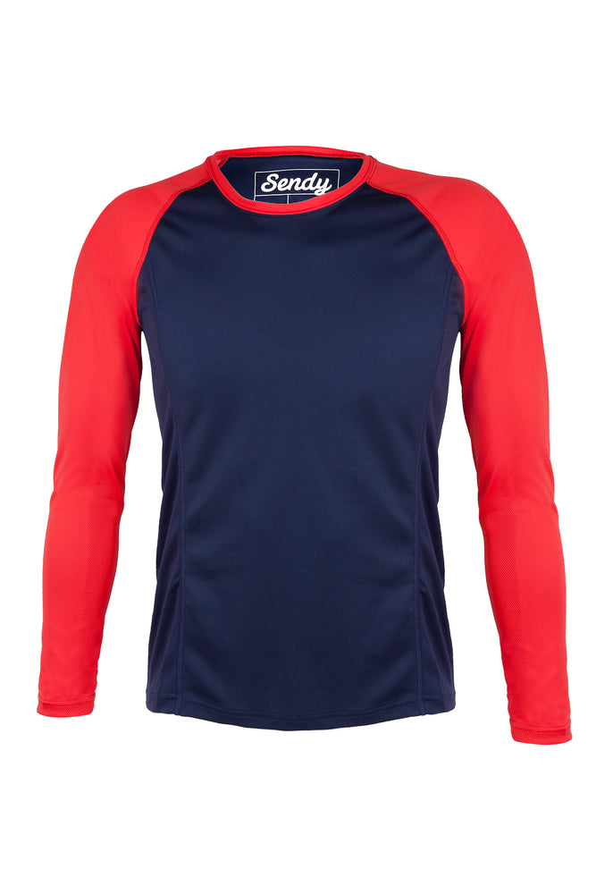 Send It Kids Long Sleeved MTB Jersey | Neon Punch
