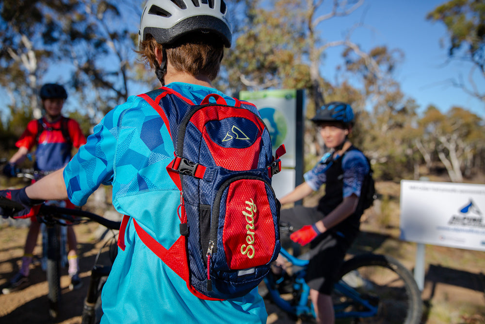 Sendy H2O Kids Hydration Backpack | Ramp It Red