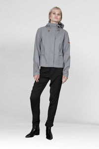 RAINCOAT HALMSTAD RAIN RUBBER  - STONE GRAY
