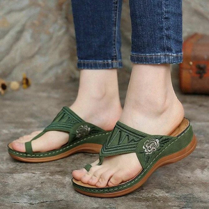 Embroidery Orthopedic Comfy Flip Flop Sandals