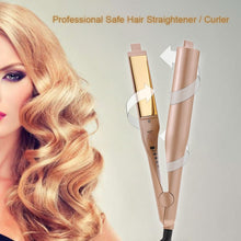 Load image into Gallery viewer, 【EASTER DEALS 60% OFF】2 IN 1 Hair Straightener, curly hair Iron Pro