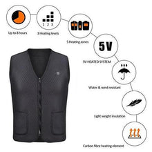 Load image into Gallery viewer, Super Rechargeable Heat Vest