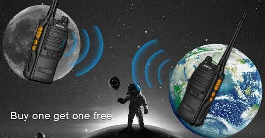 Nationwide public network interphone adopts MA800MHZ military transmission channel, and free for life as if to have a free phone forever(FREE Shipping)