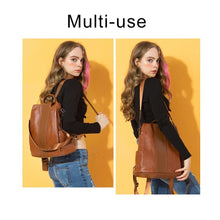 Load image into Gallery viewer, Premium Leather Three Way Anti-Thief Women's Backpack