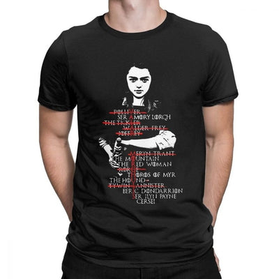 GOT Arya's List T-Shirt - Schwifty Direct