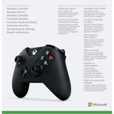 Black Microsoft Wireless Controller for Xbox One Box - Back