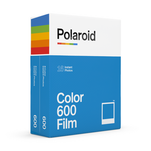 Color Polaroid 600 Instant Film Double Pack Box - Angle