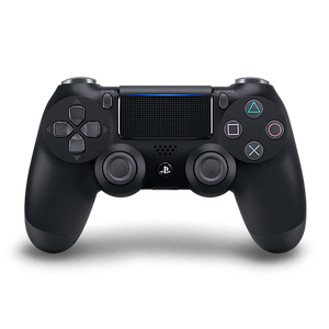 Jet Black Sony DualShock 4 Wireless Controller for PlayStation 4 - Front