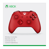 Red Microsoft Wireless Controller for Xbox One Box - Front