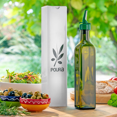 Image of Poura Glass Olive Oil Bottle With Oil Spout