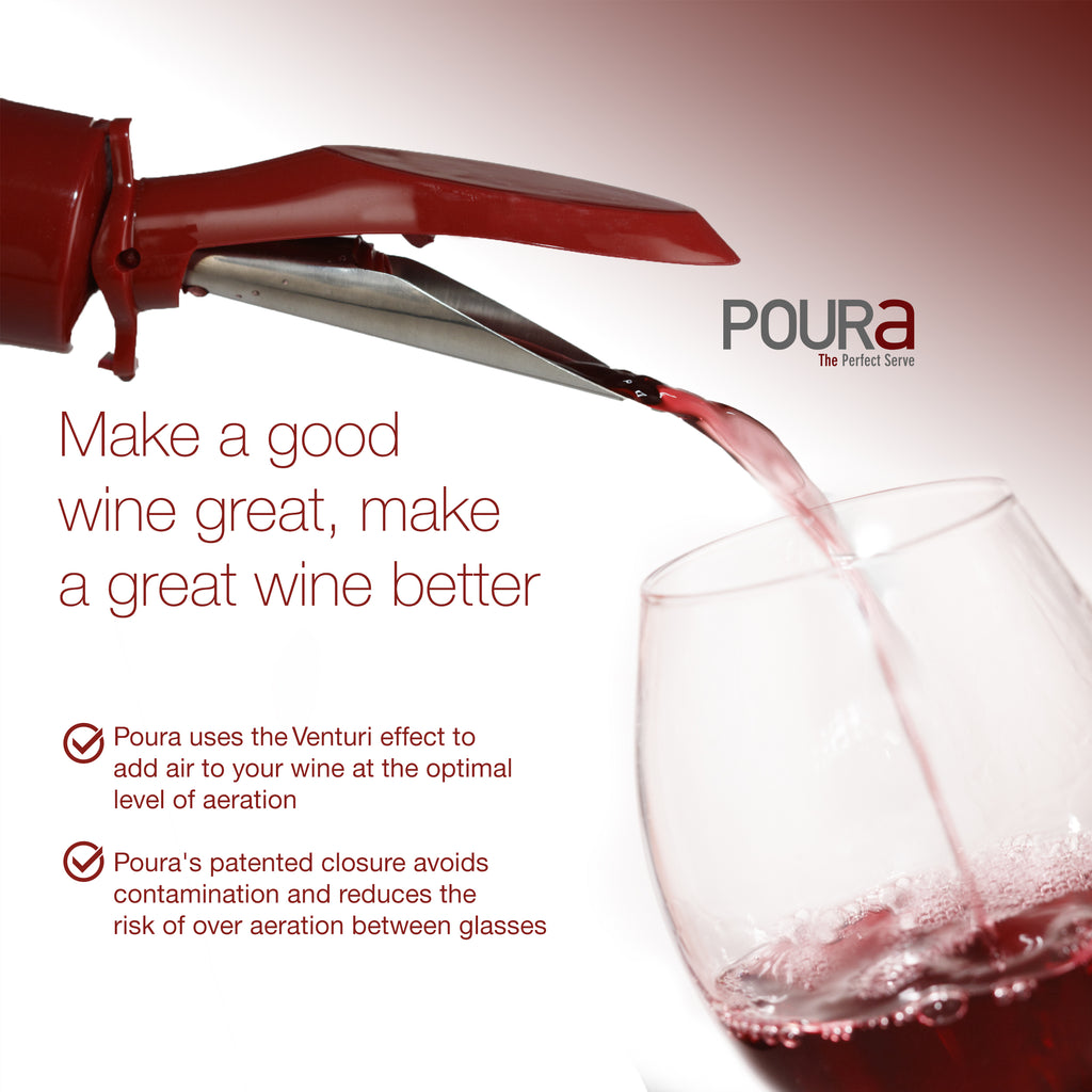 Poura Wine Aerator Pourer Spout