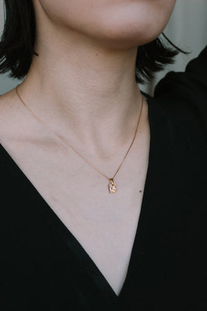 RECTANGULAR CHARM necklace N°1 (S)