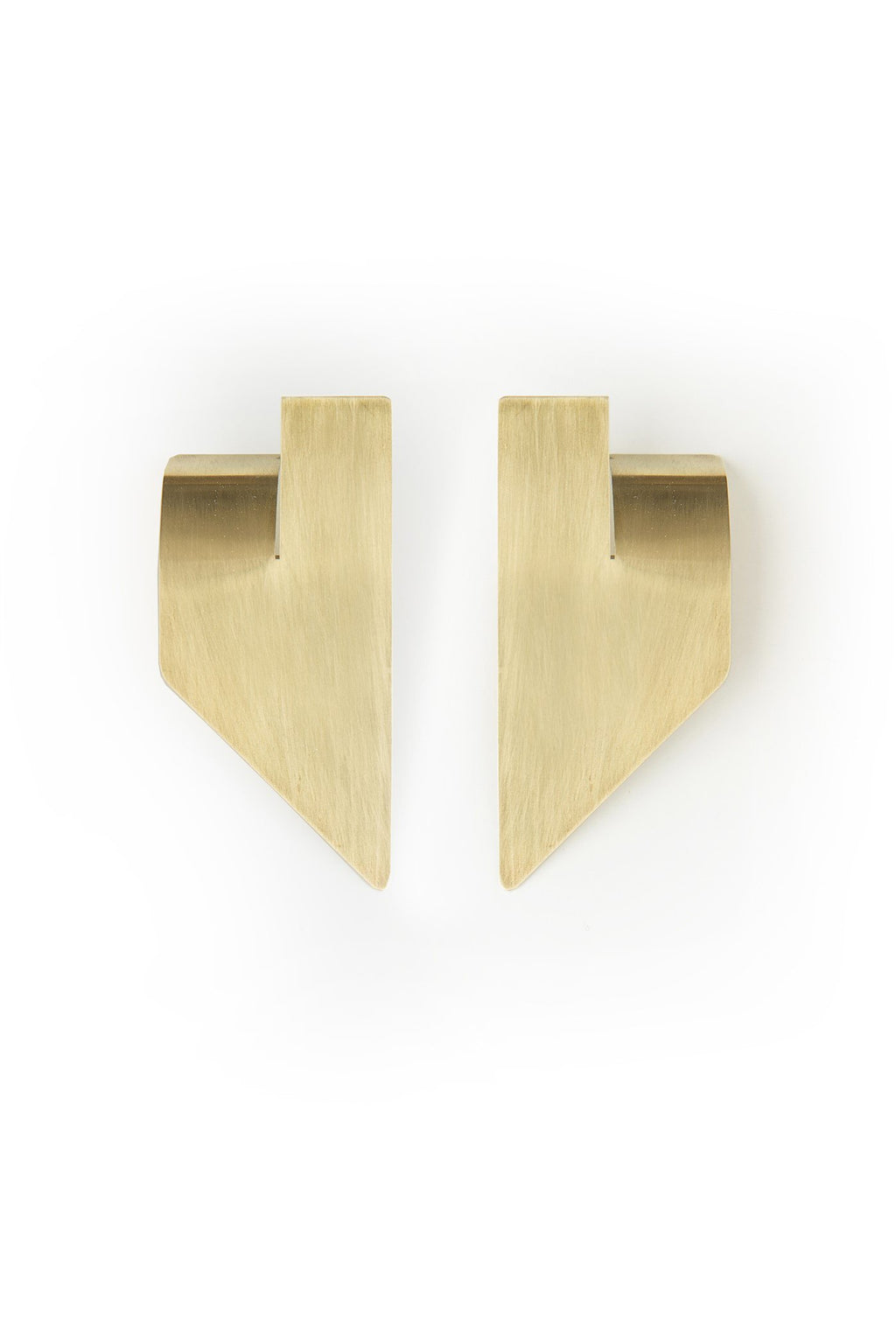 SLIT EARRINGS N°2 brass