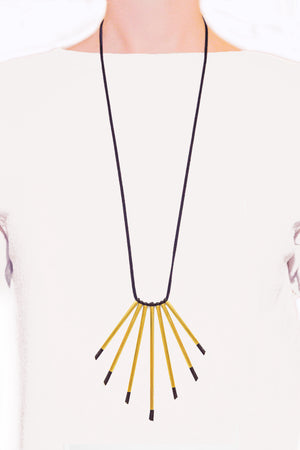 BRASS TIES radiant necklace