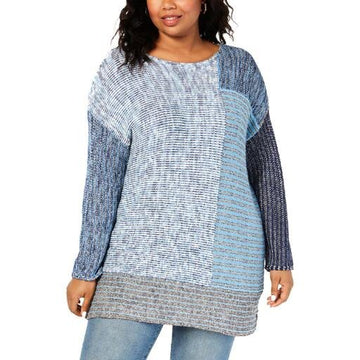 Style & Co. Womens Plus Crewneck Tunic Pullover Sweater Various Sizes, Colors