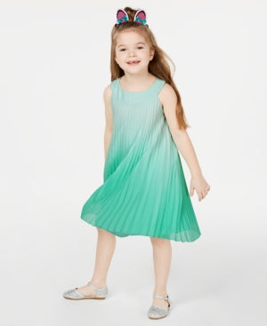 Rare Editions Toddler Girls Ombre Pleated Chiffon Dress