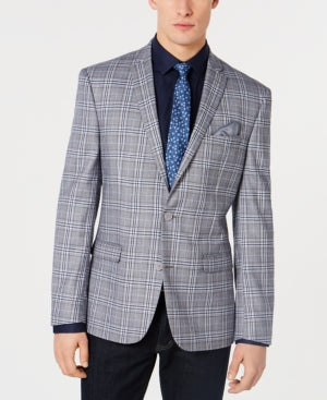 Bar Iii Mens Active Stretch Slim-Fit Plaid Sport Coat