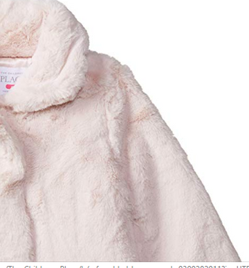 The Childrens Place Baby Girls Faux Fur Jacket 12/18 M