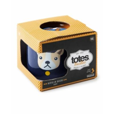 Totes Mens Mug & Socks Gift Set - Bulldog