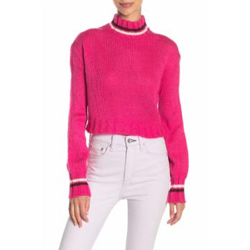 Planet Gold Juniors Turtleneck Cropped Sweater, Choose Sz/Color