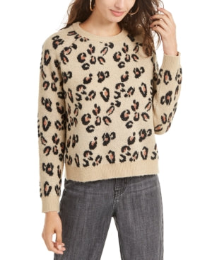 Planet Gold Juniors Animal-Print Sweater, Various Sizes