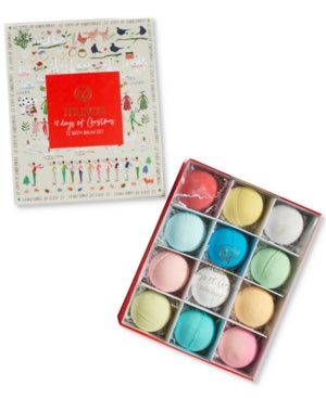 Musee 12 Days of Christmas 12 Bath Balm Set  / New with Box