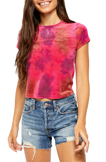 Free People Bright Eyes Velvet T-Shirt, Choose Sz/Color