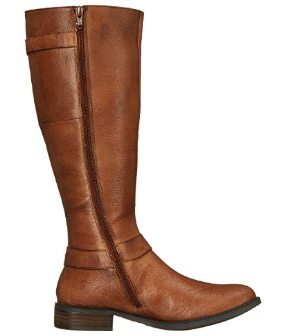 Steve Madden Womens Alyy Engineer Boot, Cognac Leather, 6 M US