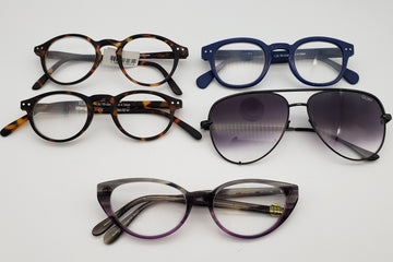 Lot of 5 Womens Designer Reading/Sunglasses (For Parts)
