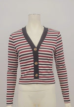 Ultra Flirt Juniors Striped Ribbed Top Size Large