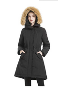 valuker Womens Waterproof Thickened Down Parka Coat with Royal Fur 90% Down Coa