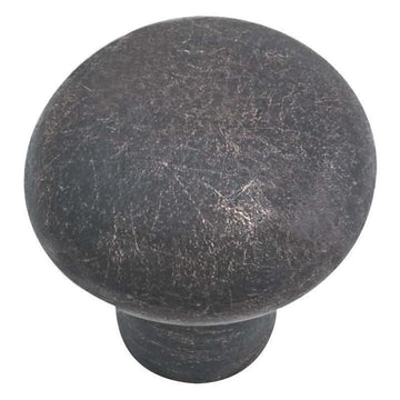Emtek Rustic Sandcast Bronze Mushroom Cabinet Knob, Various Finishes, Sizes
